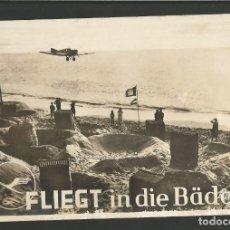 Postales: FLIEGT IN DIE BADER-LUFTHANSA-FOTOGRAFICA-POSTAL PUBLICITARIA DE AVIONES-VER REVERSO-(60.123). Lote 167474792