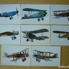 Postales: LOTE 8 POSTALES DE AVIONES. Lote 169564504