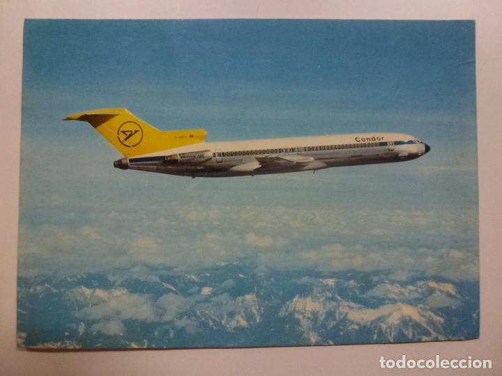 POSTAL. CONDOR. EUROPA JET. BOEING 727-230. F.W. ROHDEN. NO ESCRITA. (Postales - Postales Temáticas - Aeroplanos, Zeppelines y Globos)