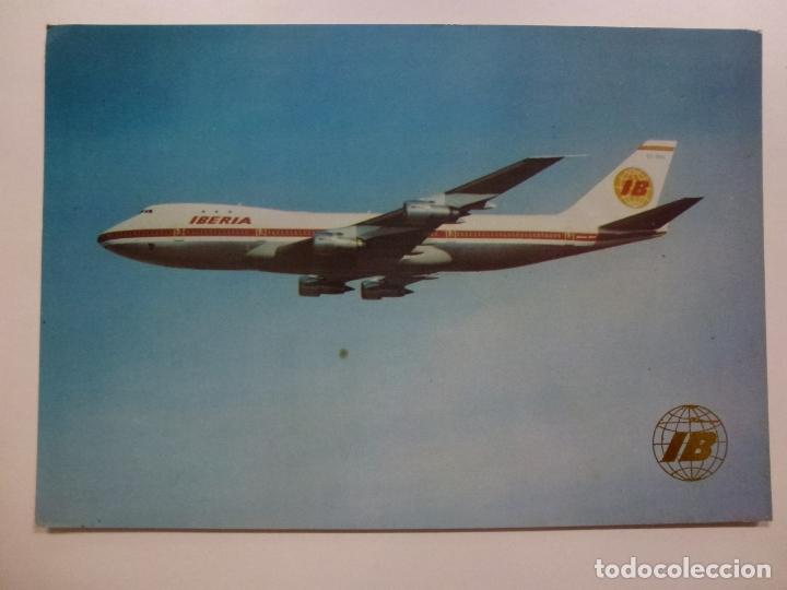 POSTAL. BOEING 727 JET. IBERIA. NO ESCRITA. (Postales - Postales Temáticas - Aeroplanos, Zeppelines y Globos)