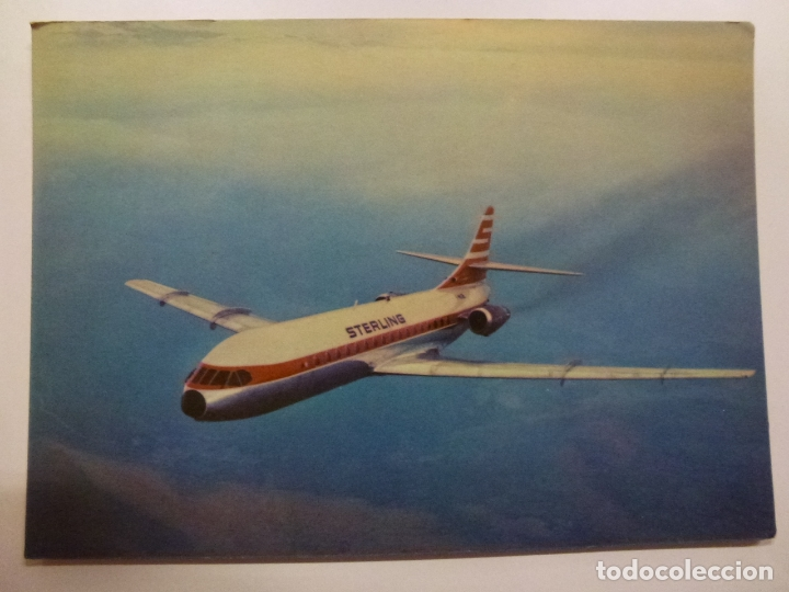 Postales: POSTAL. STERLING AIRWAYS. CARAVELLE SUPER B. NO ESCRITA. - Foto 1 - 169566612