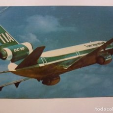 Postales: POSTAL. SUNDOWN IN THE SOUTH PACIFIC. TRANS INTERNATIONAL AIRLINES. MIKE ROBERTS. NO ESCRITA. . Lote 169566780