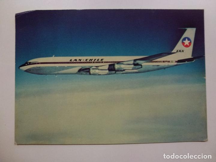 POSTAL. BOEING 707. LAN CHILE. NO ESCRITA. (Postales - Postales Temáticas - Aeroplanos, Zeppelines y Globos)