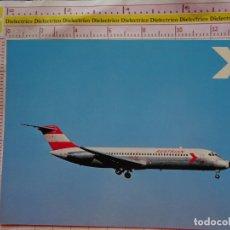 Postales: POSTAL DE AVIONES AEROLÍNEAS. AVIÓN MCDONNELL DOUGLAS DC9/32 DE AUSTRIAN AIRLINES. AUSTRIA. 2271. Lote 170225440