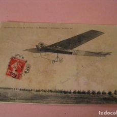 Postales: POSTAL FRANCES. AERODROME DE CAMP DE CHALONS. LA MONOPLAN ANTOINETTE. CIRCULADA 1911.. Lote 170387776