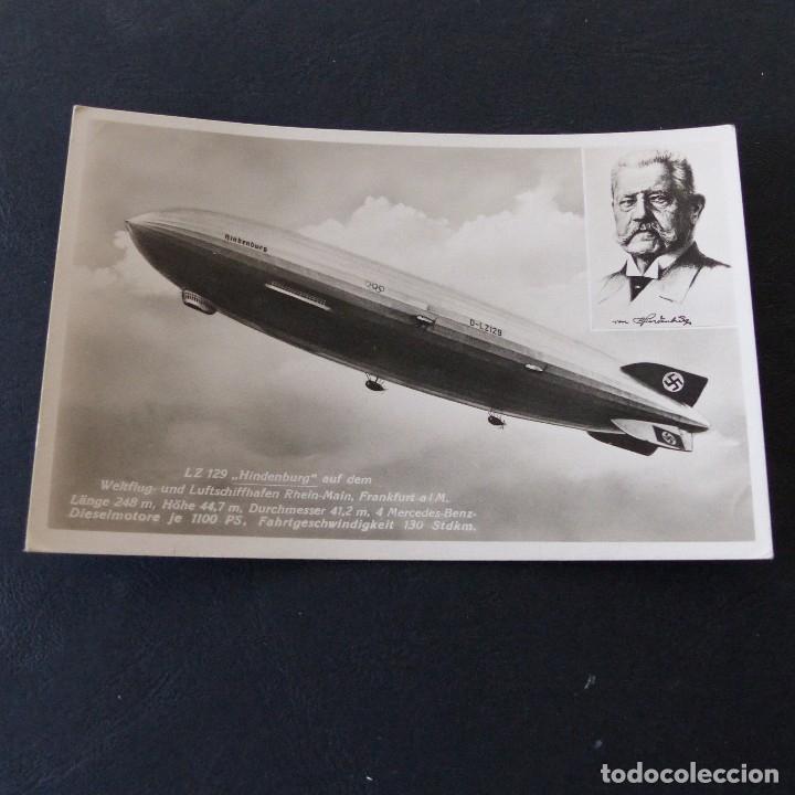 POSTAL DE AVIACIÓN.- FRIEDRICHSHAFEN ALEMANIA .- GRAF ZEPPELIN 1937 (Postales - Postales Temáticas - Aeroplanos, Zeppelines y Globos)