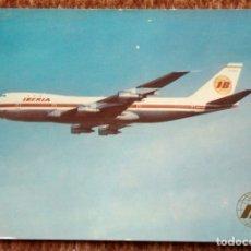 Postales: IBERIA - BOEING 747 JET. Lote 172752209