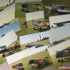 Postales: COLECCION COMPLETA DE18 POSTALES DEL MUSEO DEL AIRE DE CUATRO VIENTOS - 1981 AVIACION. Lote 172786550