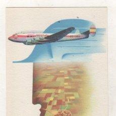 Cartes Postales: AVIACO POSTAL CON PUBLICIDAD DE LA COMPAÑÍA AÉREA. SIN CIRCULAR. . Lote 175027003