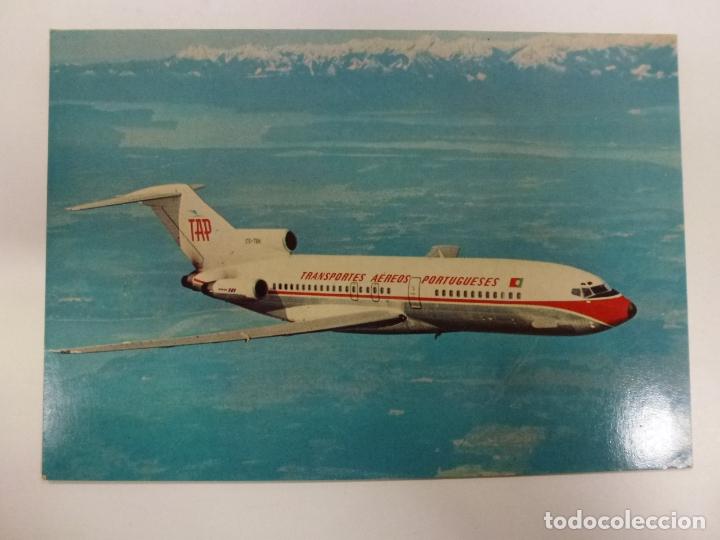 POSTAL. BOEING 727. PORTUGUESE AIRWAYS. NO ESCRITA. (Postales - Postales Temáticas - Aeroplanos, Zeppelines y Globos)