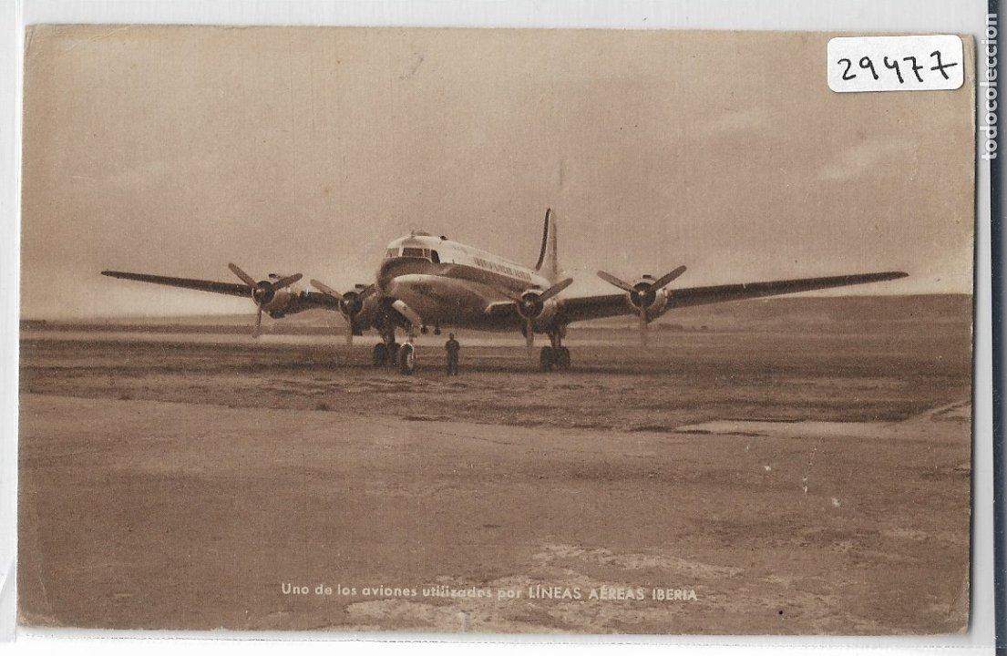 LÍNEAS AÉREAS IBERIA - AVIÓN - P29477 (Postales - Postales Temáticas - Aeroplanos, Zeppelines y Globos)