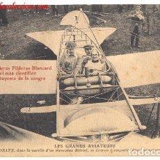 Postales: LES GRANDS AVIATEURS. POSTAL PUBLICITARIA DE PILDORAS BLANCARD. Lote 178065647
