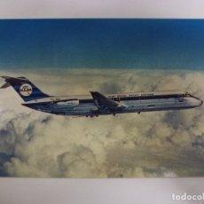 Postales: POSTAL. THE DC-9-30 KLM'S STRETCHED DC-9 JET. NO ESCRITA. . Lote 178103857