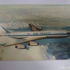 Postales: POSTAL. BOEING 707 INTERCONTINENTAL. AIR FRANCE. ED. I.V.O. PARIS-EVIAN. NO ESCRITA. . Lote 178667781