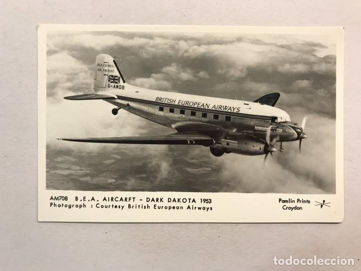 AVIONES. POSTAL AM708 B.E.A. AIRCARFT - DARK DAKOTA 1953. EDITA: FOTO. BRITISH EUROPEAN AIRWAYS (Postales - Postales Temáticas - Aeroplanos, Zeppelines y Globos)