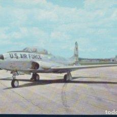 Postales: POSTAL LOCKHEED T33 A - SHOOTING STAR -U.S. AIR FORCE - CURTEICHCOLOR 37. Lote 179098260