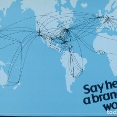 Postales: PAN AM - SAY HELLO TO A BRAND NEW WORLD. Lote 179098888