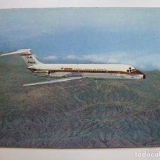 Cartes Postales: POSTAL. AVIÓN. JET DOUGLAS DC-9 SERIE 30. IBERIA. NO ESCRITA. . Lote 179397315