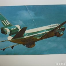 Postales: POSTAL. AVIÓN. TIA. TRANS INTERNATIONAL AIRLINES. ED. MIKE ROBERTS. NO ESCRITA. . Lote 180074260