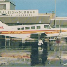 Postales: POSTAL SUNBIRD AIRLINES CESSNA 402. Lote 180158915