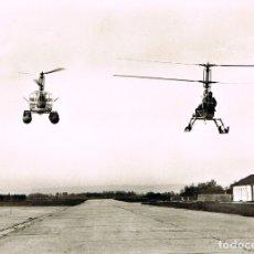 Postales: HELICOPTERO WAGNER SKYTRAC, DOS MODELOS DIFERENTES EN VUELO. Lote 180870635