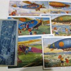 Postales: LOTE 6 POSTALES POSTAL EDICIONS CATALANES LOCFON SÈRIE AVIACIO CON SOBRE ORIGINAL AVIACION. Lote 181322891