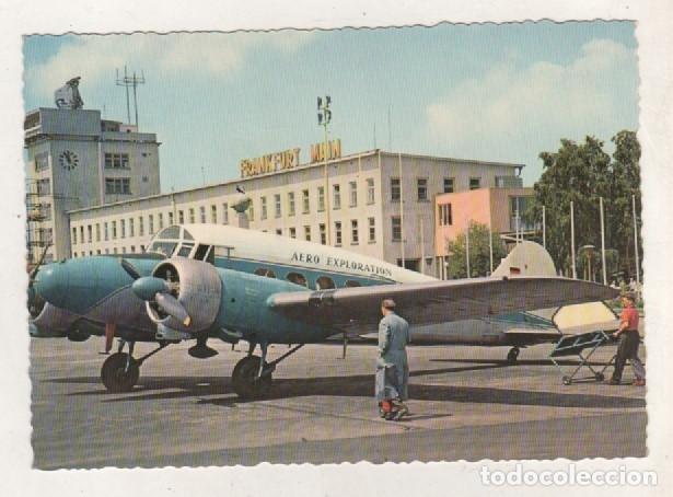 AEROPUERTO DE FRANKFURT. SIN CIRCULAR. (Postales - Postales Temáticas - Aeroplanos, Zeppelines y Globos)