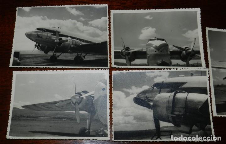 Postales: 5 FOTOGRAFIAS DEL El RAYO ROJO 1945 DE IBERIA que volaron durante dos descadas Douglas DC-3 , MIDEN - Foto 2 - 182571362