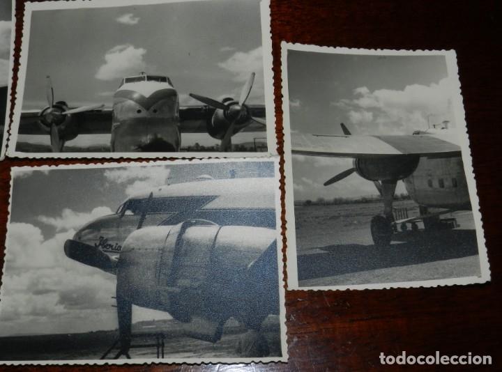 Postales: 5 FOTOGRAFIAS DEL El RAYO ROJO 1945 DE IBERIA que volaron durante dos descadas Douglas DC-3 , MIDEN - Foto 3 - 182571362