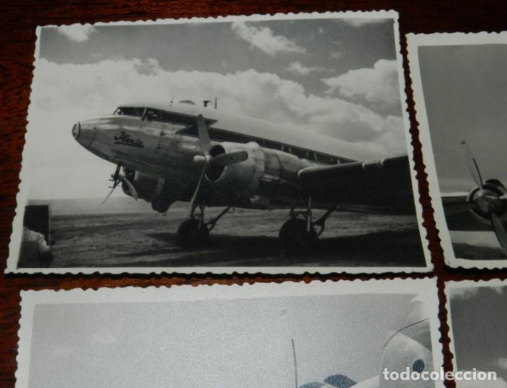 Postales: 5 FOTOGRAFIAS DEL El RAYO ROJO 1945 DE IBERIA que volaron durante dos descadas Douglas DC-3 , MIDEN - Foto 4 - 182571362