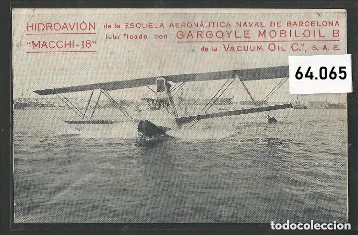 POSTAL ANTIGUA - PUBLICIDAD HIDROAVION MACCHI 18 - VER FOTOS -(64.065) (Postales - Postales Temáticas - Aeroplanos, Zeppelines y Globos)