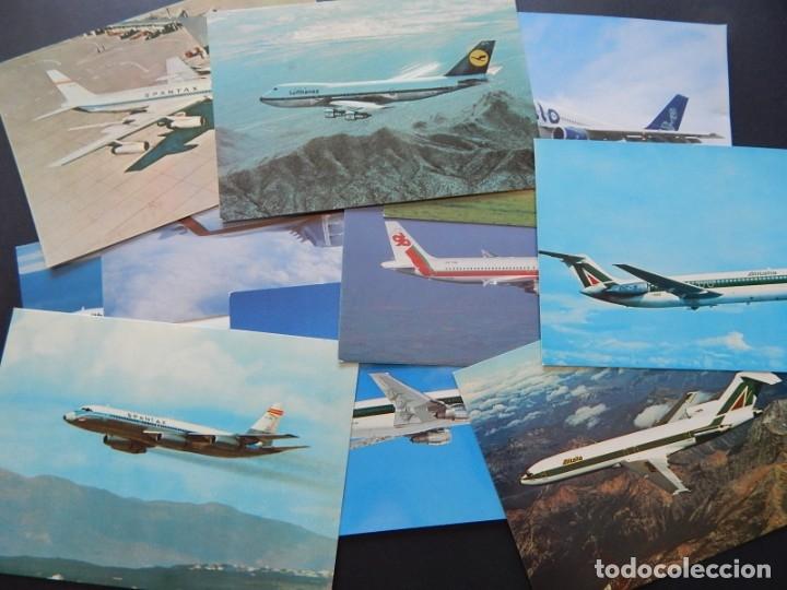 LOTE DE 10 POSTALES DE AVIONES (TODAS DIFERENTES) - SIN CIRCULAR (Postales - Postales Temáticas - Aeroplanos, Zeppelines y Globos)