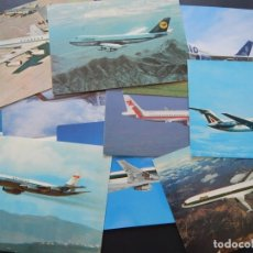 Postales: LOTE DE 10 POSTALES DE AVIONES (TODAS DIFERENTES) - SIN CIRCULAR. Lote 182990623