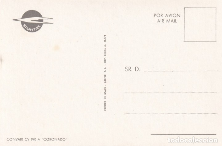 Postales: Lote de 10 postales de aviones (todas diferentes) - Sin circular - Foto 3 - 182990623