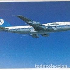 Postales: -65237 POSTAL AVION, AEROLINEA SABENA, BOEING 747-300, SIN CIRCULAR. Lote 183284985