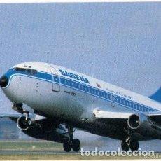 Postales: -65236 POSTAL AVION, AEROLINEA SABENA, BOEING 737, SIN CIRCULAR. Lote 183285083