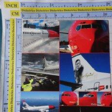 Postales: POSTAL DE AVIONES AEROLINEAS. NORUEGA, NORWEGIAN AIRLINES. 1221. Lote 194125343