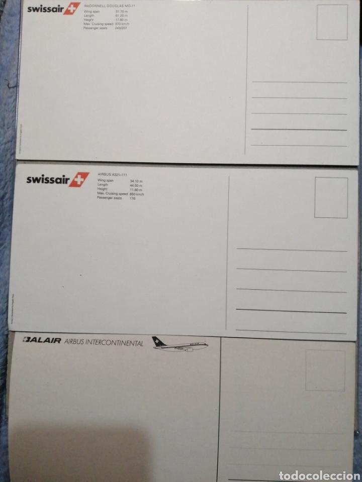 Postales: Lote Balair y Swissair medidas 21x10 - Foto 2 - 183756520