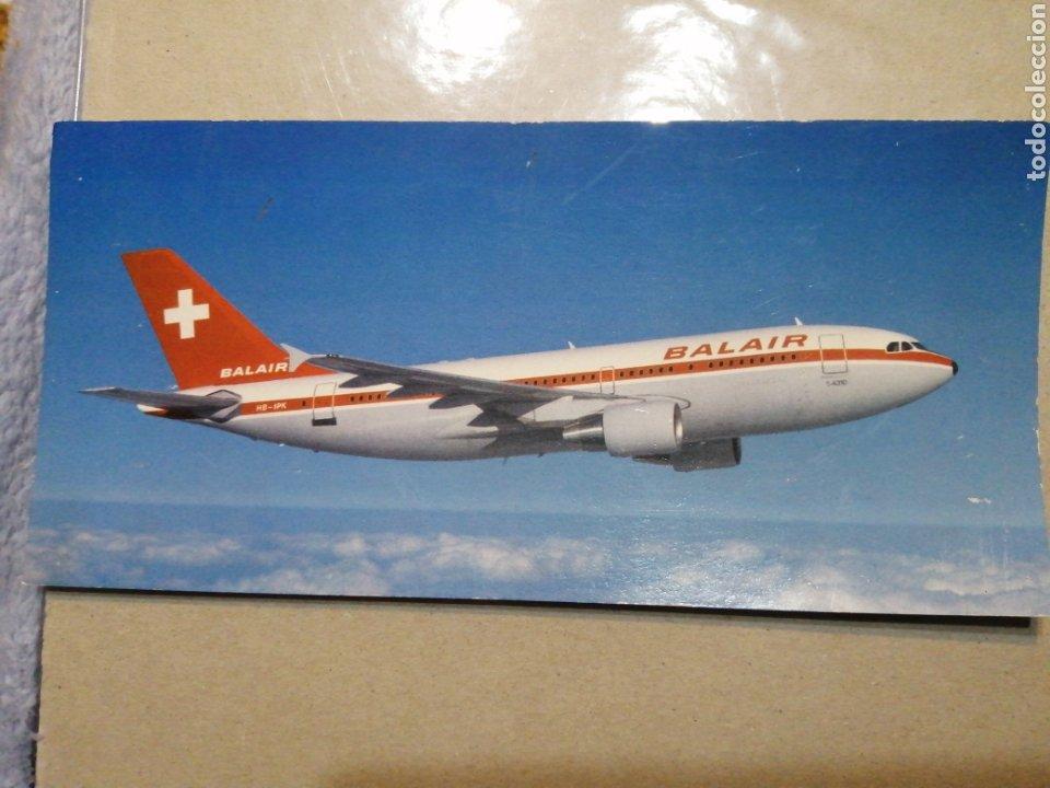 AVIÓN AIRBUS INTERCONTINENTAL BALAIR (Postales - Postales Temáticas - Aeroplanos, Zeppelines y Globos)