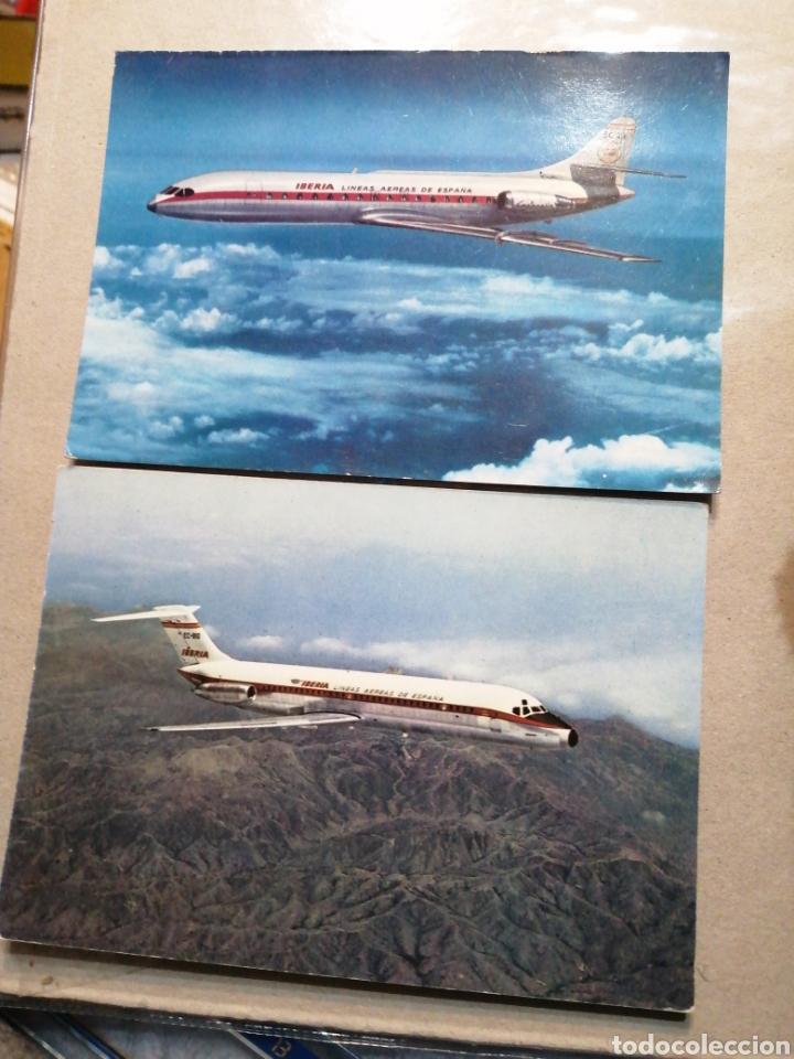 LOTES COMPAÑÍA IBERIA (Postales - Postales Temáticas - Aeroplanos, Zeppelines y Globos)