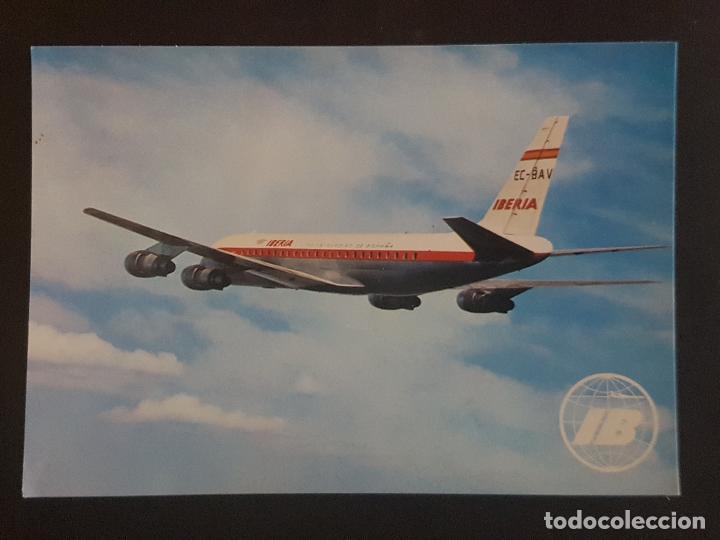IBERIA JET DOUGLAS DC-8 TURBOFAN POSTAL (Postales - Postales Temáticas - Aeroplanos, Zeppelines y Globos)
