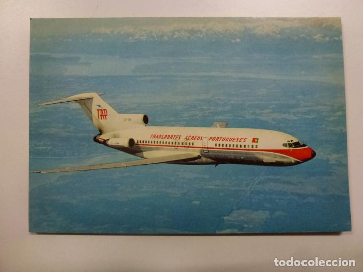 POSTAL. AVIÓN. BOEING 727. PORTUGUESE AIRWAYS. NO ESCRITA. (Postales - Postales Temáticas - Aeroplanos, Zeppelines y Globos)