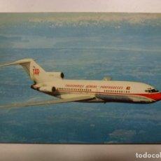 Postales: POSTAL. AVIÓN. BOEING 727. PORTUGUESE AIRWAYS. NO ESCRITA. . Lote 183813775
