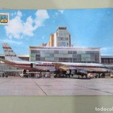Postales: MADRID - AEROPUERTO DE BARAJAS AVIÓN IBERIA - ESCRITA. Lote 184765232
