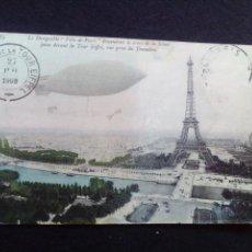 Postales: POSTAL ANTIGUA DIRIGIBLE VILLE-DE-PARIS. Lote 186143105