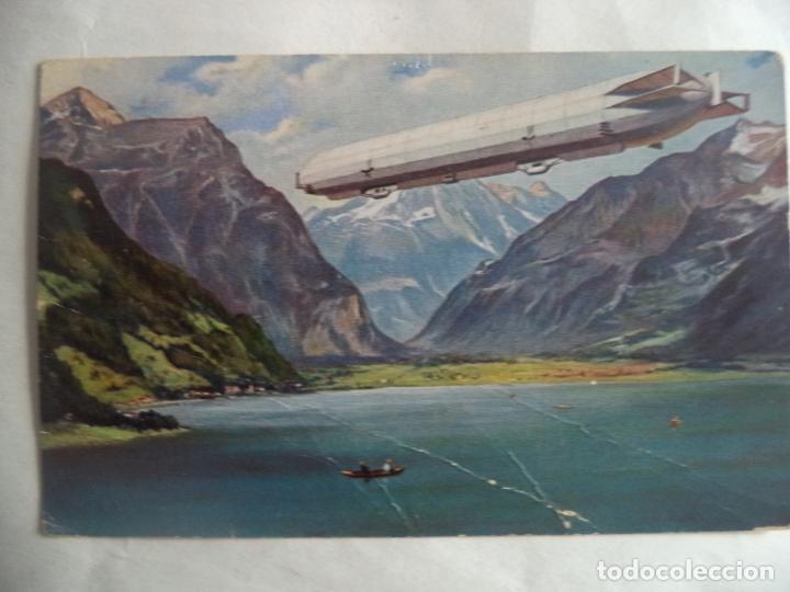GRAF ZEPPELIN CIRCULADA CON SELLO (Postales - Postales Temáticas - Aeroplanos, Zeppelines y Globos)