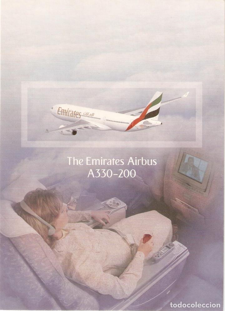 POSTAL THE EMIRATES AIRBUS A330-200 (Postales - Postales Temáticas - Aeroplanos, Zeppelines y Globos)