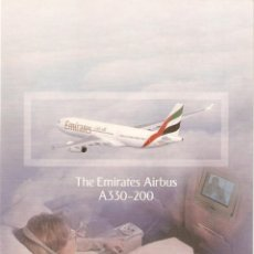 Postales: POSTAL THE EMIRATES AIRBUS A330-200. Lote 189939130