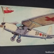 Postales: TARJETA POSTAL DE AVION. CHOCOLATES LA ESTRELLA. R.W.D. 13 S. POLONIA. MONOPLANO AMBULANCIA.. Lote 190810285