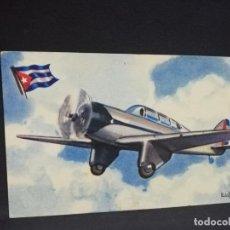Postales: TARJETA POSTAL DE AVION. CHOCOLATES LA ESTRELLA. CURTISS- WRIGHT. CUBA. MONOPLANO ENTRENAMIENTO.. Lote 190815405